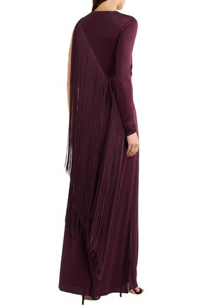 EMILIO PUCCI Asymmetric fringed jersey gown