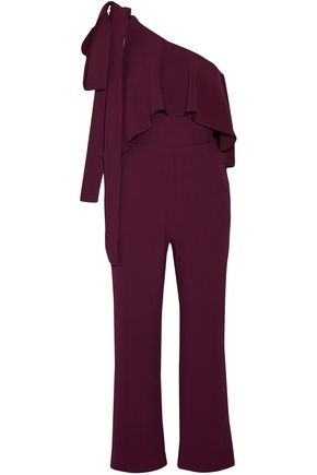 ELIE SAAB One-shoulder ruffled crepe jumpsuit