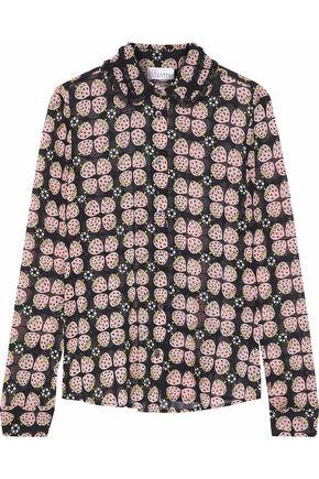 REDValentino Printed fil coupé silk-blend chiffon blouse