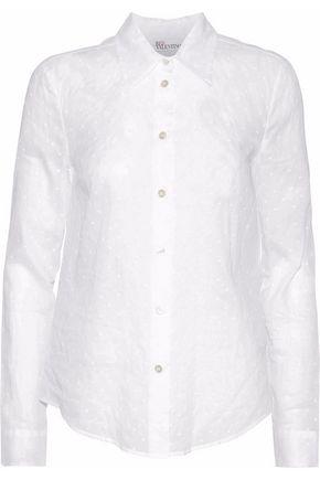 REDValentino Swiss-dot cotton-gauze shirt