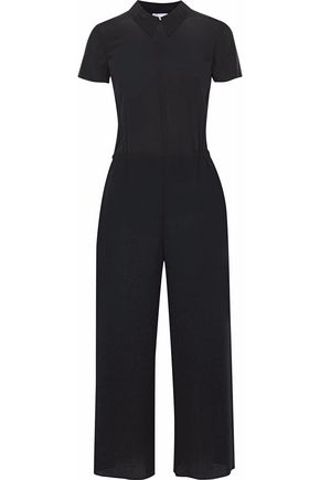 REDValentino Cropped wool-crepe jumpsuit