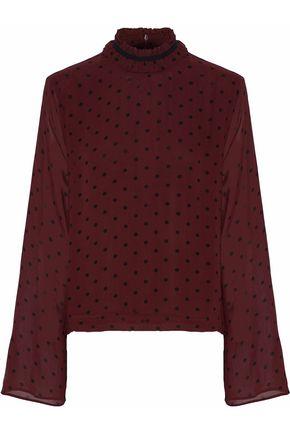 GANNI Carlton floral-print georgette blouse