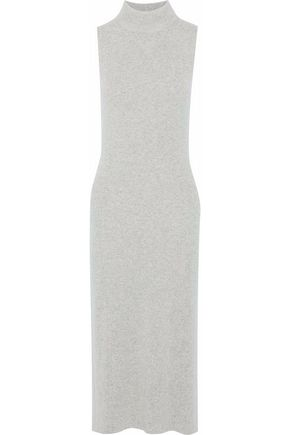 RAG & BONE Ribbed cashmere turtleneck midi dress