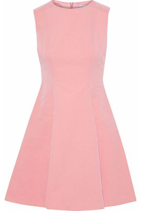REDValentino Flared coated cotton-blend mini dress