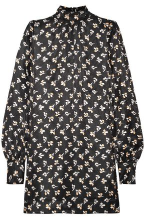 MARC JACOBS Printed silk-jacquard mini dress