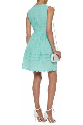REDValentino Gathered cotton-poplin mini dress