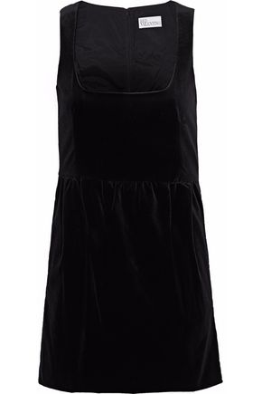 REDValentino Cotton-blend velvet mini dress