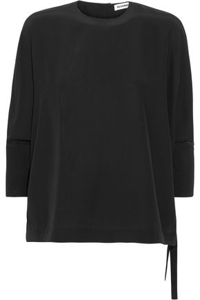 JIL SANDER Dori tie-detailed silk blouse