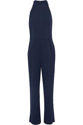 GANNI Pinstriped crepe jumpsuit