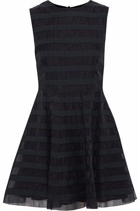 REDValentino Grosgrain-paneled silk-organza mini dress