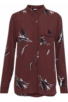 GANNI Montrose printed crepe shirt
