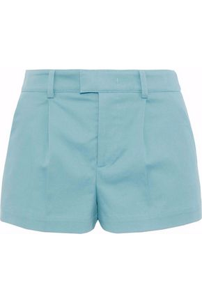 REDValentino Pleated cotton-blend shorts