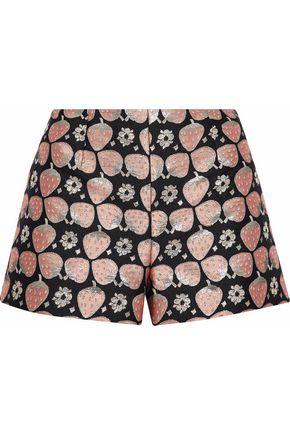 REDValentino Metallic jacquard shorts
