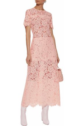GANNI Duval corded lace midi dress