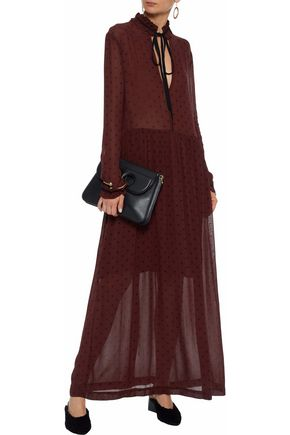 88048ce0b4c ... GANNI Carlton polka-dot georgette maxi dress ...