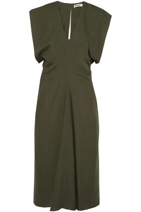 JIL SANDER Gathered wool dress