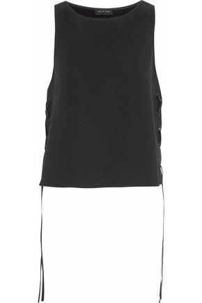 RAG & BONE Eliza lace-up crepe top