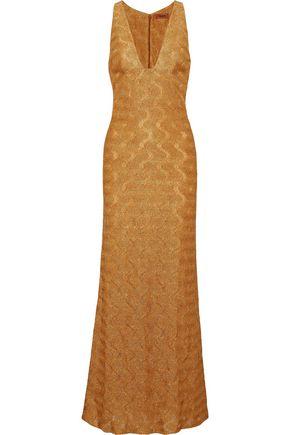 MISSONI Metallic crochet-knit gown