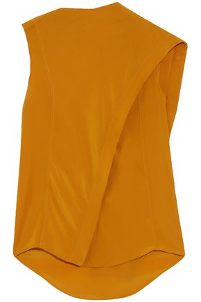 WOMAN SLEEVELESS MUSTARD