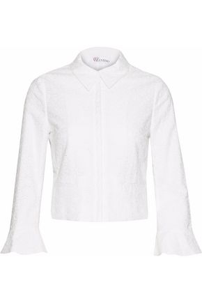 REDValentino Broderie anglaise cotton shirt