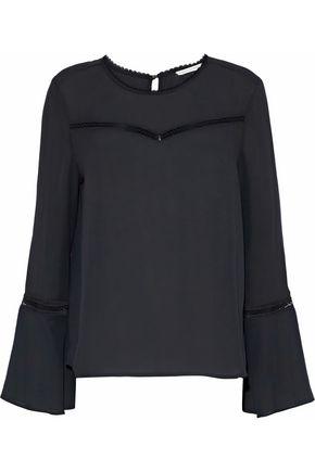 REBECCA MINKOFF Chava lace-trimmed crepe blouse