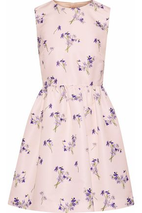 REDValentino Flared floral-print faille mini dress