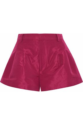 REDValentino Pleated satin-faille shorts