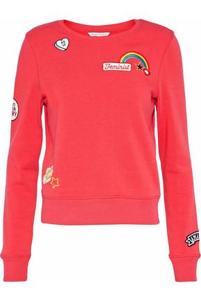 REBECCA MINKOFF Graham appliquéd jersey sweatshirt