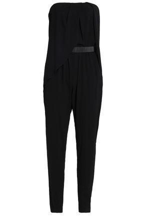 HALSTON HERITAGE Strapless crepe jumpsuit