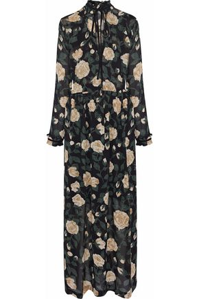 GANNI Carlton floral-print georgette maxi dress