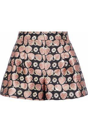 REDValentino Pleated jacquard shorts