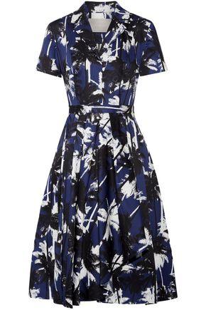 JASON WU Printed cotton-poplin shirt dress