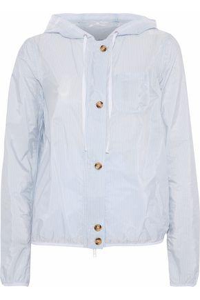 REDValentino Pinstriped shell hooded jacket