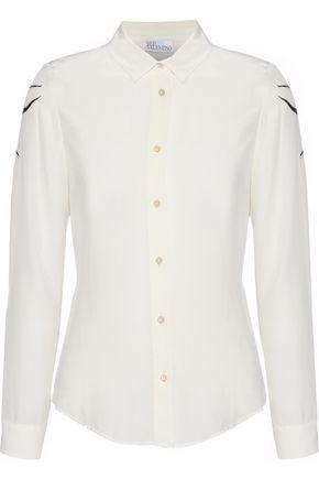 REDValentino Printed silk woven blouse