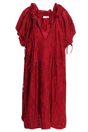 IRO Embroidered crepe mini dress