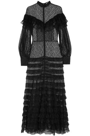 ALESSANDRA RICH Tiered lace gown