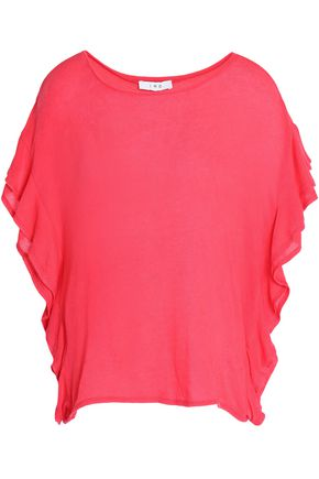 IRO Ruffled stretch-knit top
