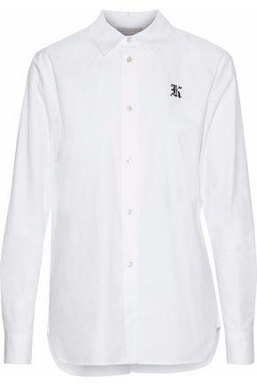 CHRISTOPHER KANE Embroidered cotton-poplin shirt