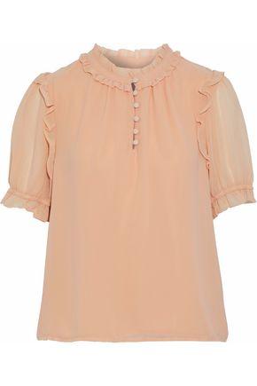 REBECCA MINKOFF Ceri ruffle-trimmed chiffon blouse