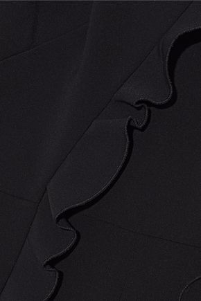 SALONI Mara split-front ruffled crepe jumpsuit