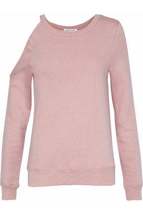 REBECCA MINKOFF Cutout cotton-blend sweatshirt