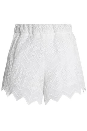 NICHOLAS Cotton-lace shorts