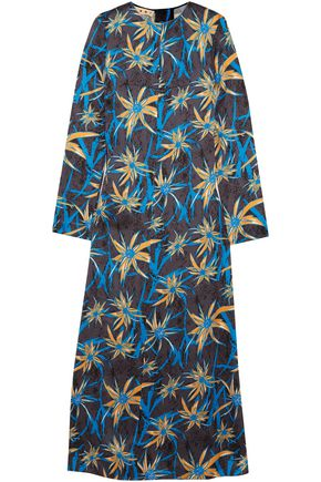 MARNI Printed satin maxi dress