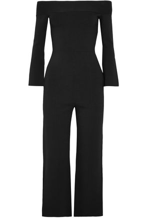 ROLAND MOURET Felbridge off-the-shoulder ponte jumpsuit