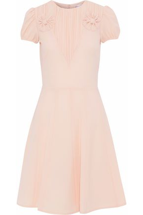 REDValentino Bow-embellished pleated crepe dress