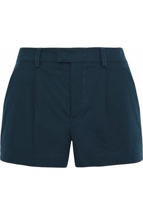 REDValentino Pleated stretch-cotton shorts