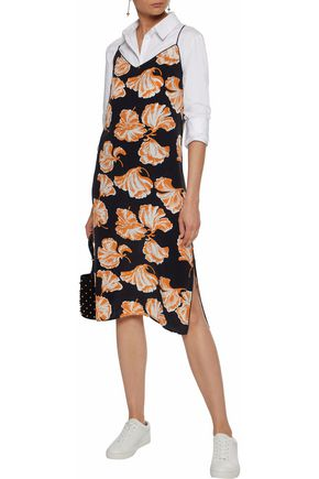 adca7d6888fa9 GANNI Geroux printed washed-silk slip dress