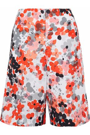 REDValentino Floral-print faille shorts