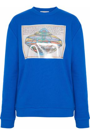 CHRISTOPHER KANE Printed cotton-blend terry sweatshirt