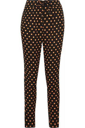 REDValentino Polka-dot crepe tapered pants